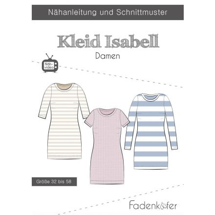 Papierschnittmuster Kleid Isabell Damen von Fadenkäfer