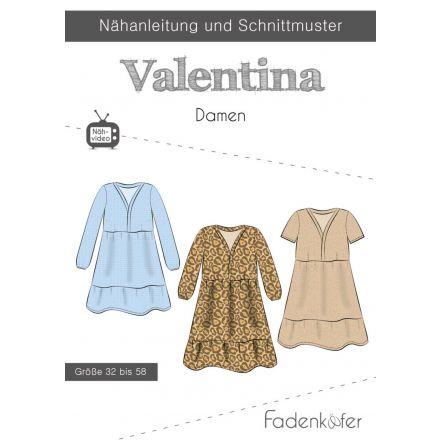 Papierschnittmuster Kleid Valentina Damen von Fadenkäfer