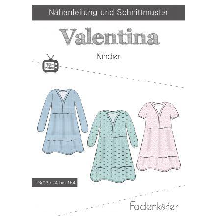 Papierschnittmuster Kleid Valentina Kinder von Fadenkäfer