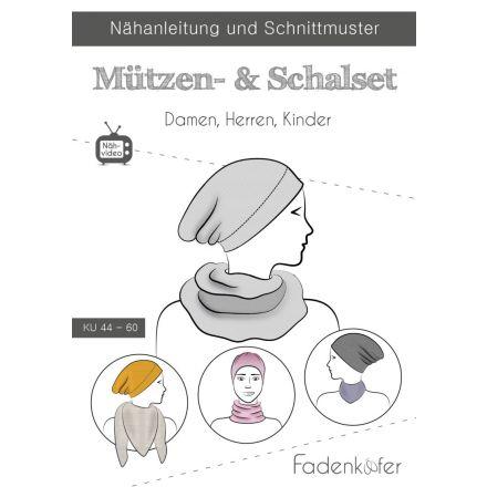 Papierschnittmuster Mützen- & Schalset von Fadenkäfer