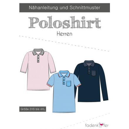 Papierschnittmuster Poloshirt Herren von Fadenkäfer
