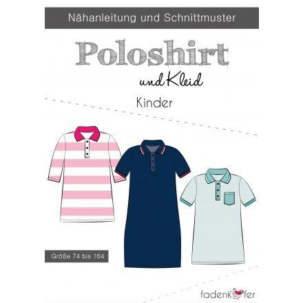 Papierschnittmuster Poloshirt und Kleid Kinder von Fadenkäfer