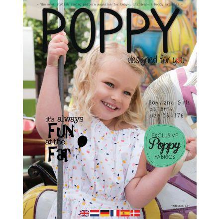 POPPY Schnittmuster Magazin mit 13 Papierschnittmuster, Edition 12