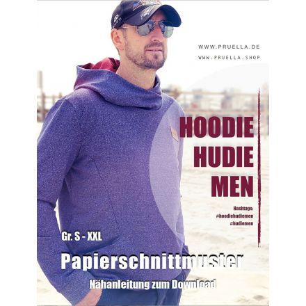 Hoodie Hudie Männer, Prülla Papierschnittmuster