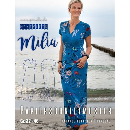 Maxikleid Milia Damen, Prülla Papierschnittmuster