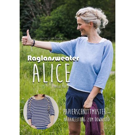 RaglanSweater Alice Damen, Prülla Papierschnittmuster