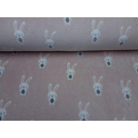 Rabbit altrosa/weiss/grau