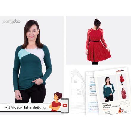 Raglanshirt & Kleid Mellie Damen Papierschnittmuster