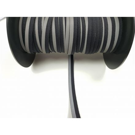 reflektierende Paspel elastisch schwarz