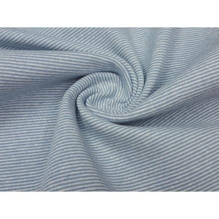 Ringelbündchen hellblau/weiss