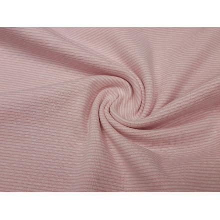 Ringelbündchen rosa/weiss