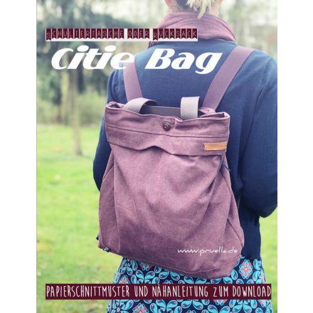 Rucksacktasche Citie Bag, Prülla Papierschnittmuster