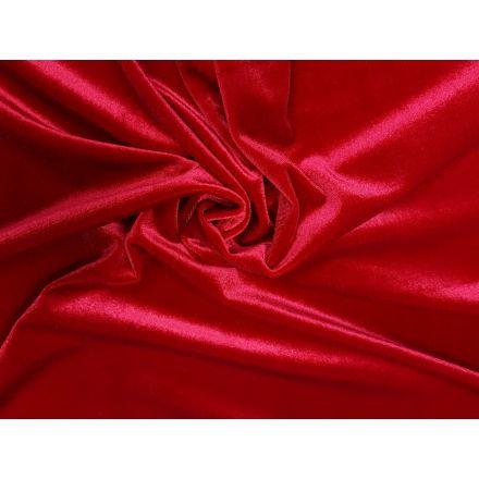 Schöner elastischer Samt, für festliche Kleider und Shirts. Durch den tollen Fall auch wunderbar für Wasserfallshirts geeignet.  Material: 95% Polyester, 5% Elasthan Breite: 150 cm Gewicht: 270gr/m²