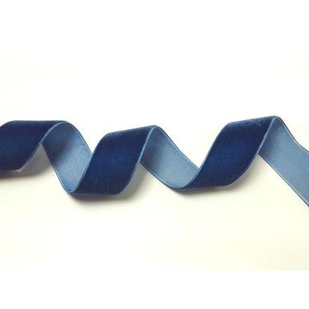 Samtband 24mm dunkelblau