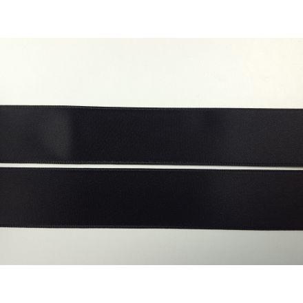 Satinband 25mm doppelseitig schwarz