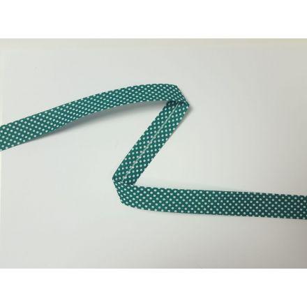 Schrägband Dotties grün/weiss