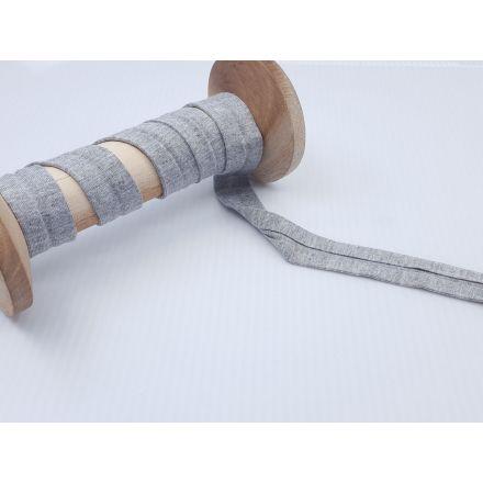 Jersey Schrägband hellgrau melange