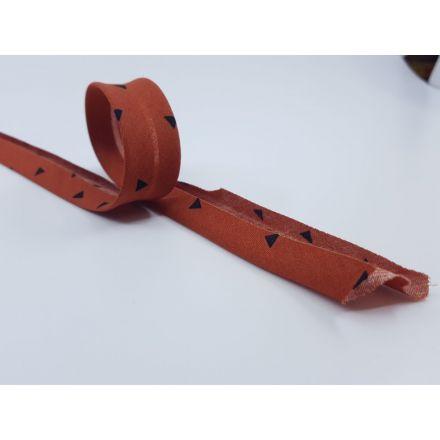 Schrägband mit Dreiecken rost/schwarz