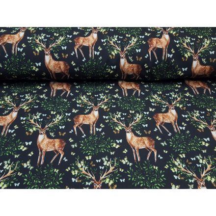 Softshell Beautiful Deer schwarz/braun/grün