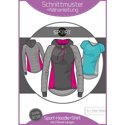 Sport-Hoodie-Shirt Damen, Ki-ba-doo Papierschnittmuster