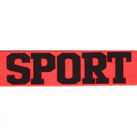 Sport Gummiband 35mm neon orange/schwarz