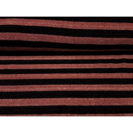 Strickware Chenille altrosa/schwarz