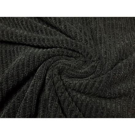 Strickware Chenille schwarz