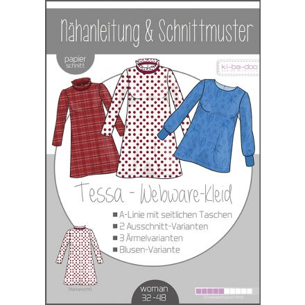 Tessa Webware-Kleid Damen, Ki-ba-doo Papierschnittmuster