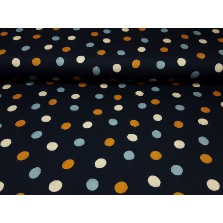 Tri-Color-Dots dunkelblau/stahlblau/creme