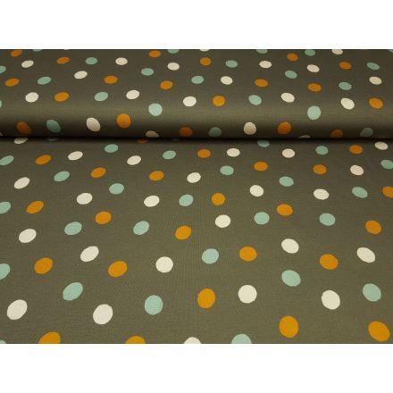 Tri-Color-Dots khaki/mint/creme