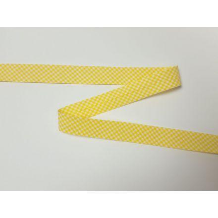Vichy-Karo Schrägband gelb/weiss