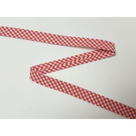 Vichy-Karo Schrägband rot/weiss
