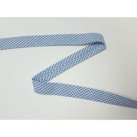 Vichy-Karo Schrägband stahlblau/weiss