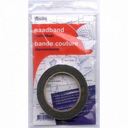 Vlieseline Nahtband schwarz 10mm