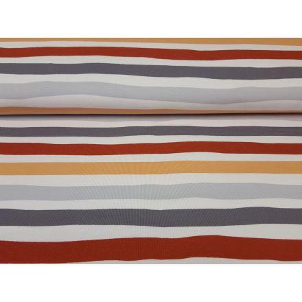 Watercolorstripes rost/grau/weiss