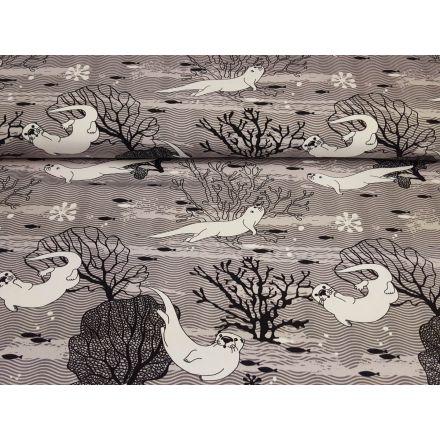 Winter Otter grau/schwarz/offwhite