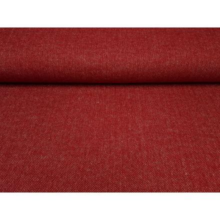 Wolle/Viskosetweet rot/ecru