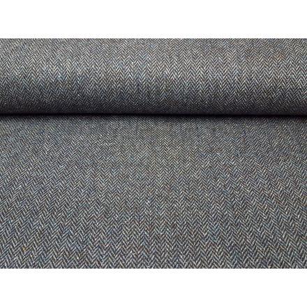 Wolle/Seidentweet dunkelbraun/hellblau-melange