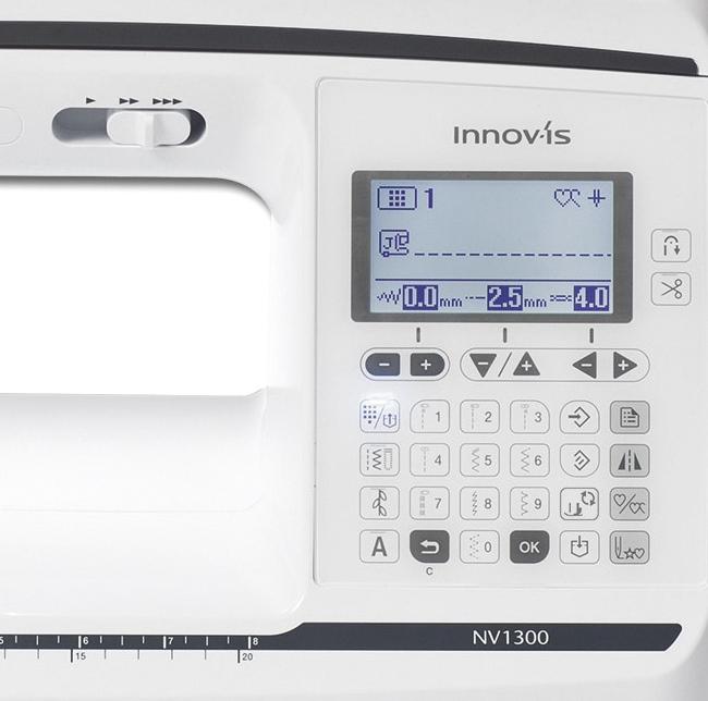 Brother Innov-is NV1300 Übersichtliches Display mit cleveren Funktionen