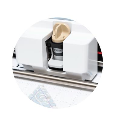 Automatisches Schneidemesser für dünne Stoffe